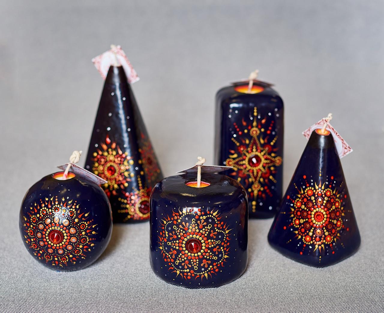 Набір розписних свічок від ELITE CANDLES