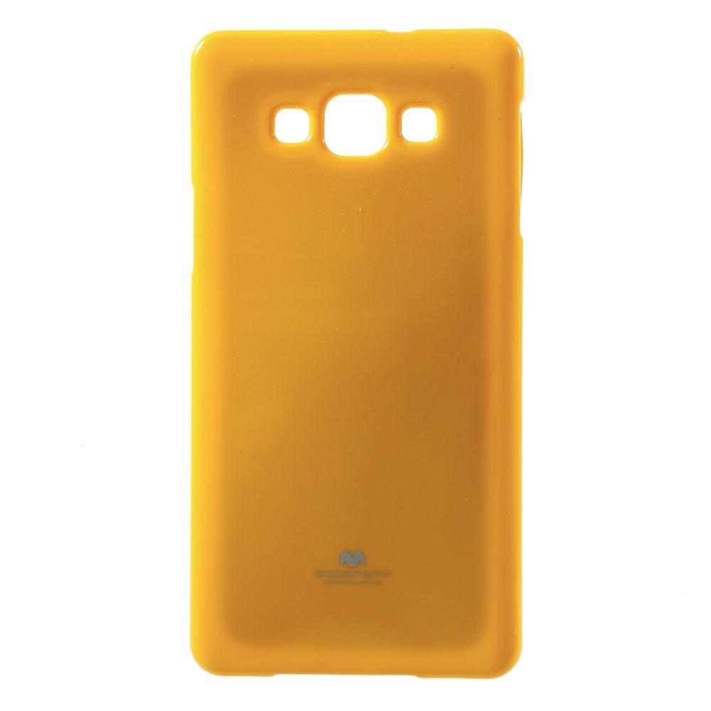 Чехол накладка силиконовый TPU Mercury для Samsung Galaxy A7 A700 оранжевый