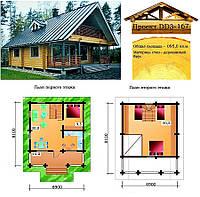 Проект дома из профилированного бруса 95 м2. Проект дома бесплатно при заказе строительства