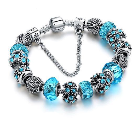 Женский браслет Primo SHARM в стиле PANDORA - Blue