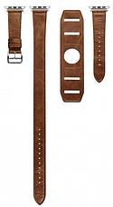 Ремінець Icarer для Apple iWatch 42mm Classic Genuine Leather ser. Світло-коричневий, фото 2