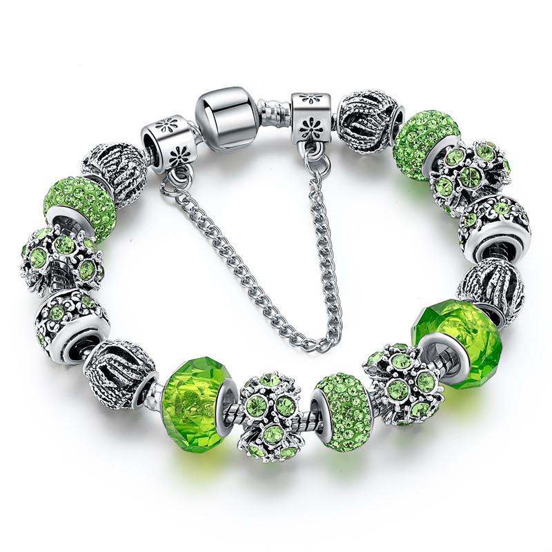 Женский браслет Primo SHARM в стиле PANDORA - Green