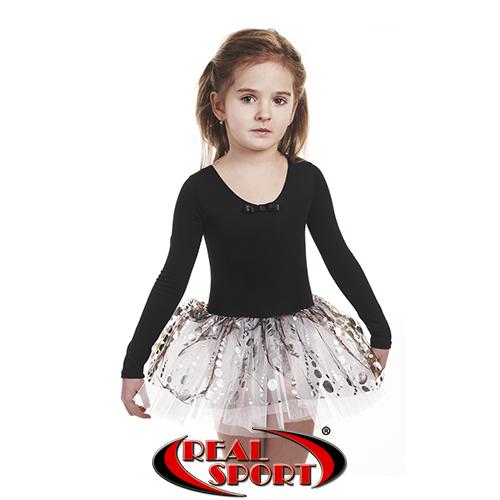 Детский купальник для танцев с многослойной юбкой