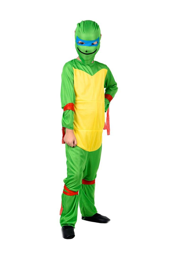 Детский маскарадный костюм Ниндзя Черепашка (комбинезон и шапка) полиэстер