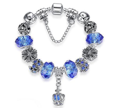 Женский браслет Primo KORONA в стиле PANDORA - Blue