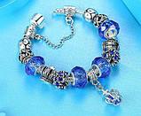 Женский браслет Primo KORONA в стиле PANDORA - Blue, фото 3