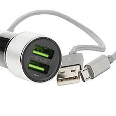 Автомобильное зарядное устройство LDINIO DL-C303 + cable micro USB Серебристый / черный, фото 3