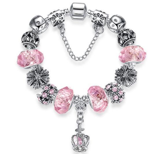 Женский браслет Primo KORONA в стиле PANDORA - Pink