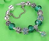 Жіночий браслет Primo KORONA в стилі PANDORA - Green, фото 3