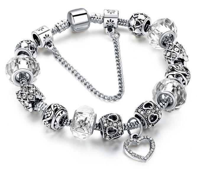 Женский браслет Primo HEART в стиле PANDORA - White