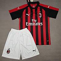 Футбольная форма Милан красно-черная сезон 18-19