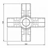 Cоединение крестообразное R-45, фото 2