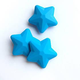 Звезда большая (голубая) 45мм, силиконовые бусины