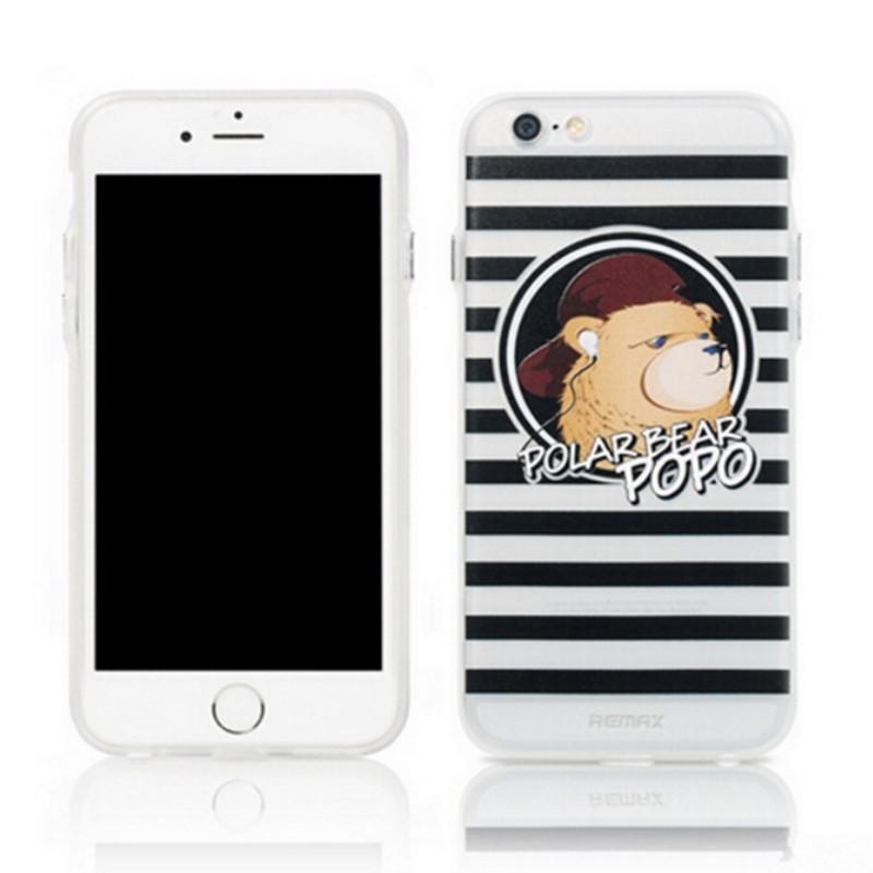 Чохол-накладка Remax для iPhone 6/6S Polar Bear ser. Прозорий/чорний(992230)