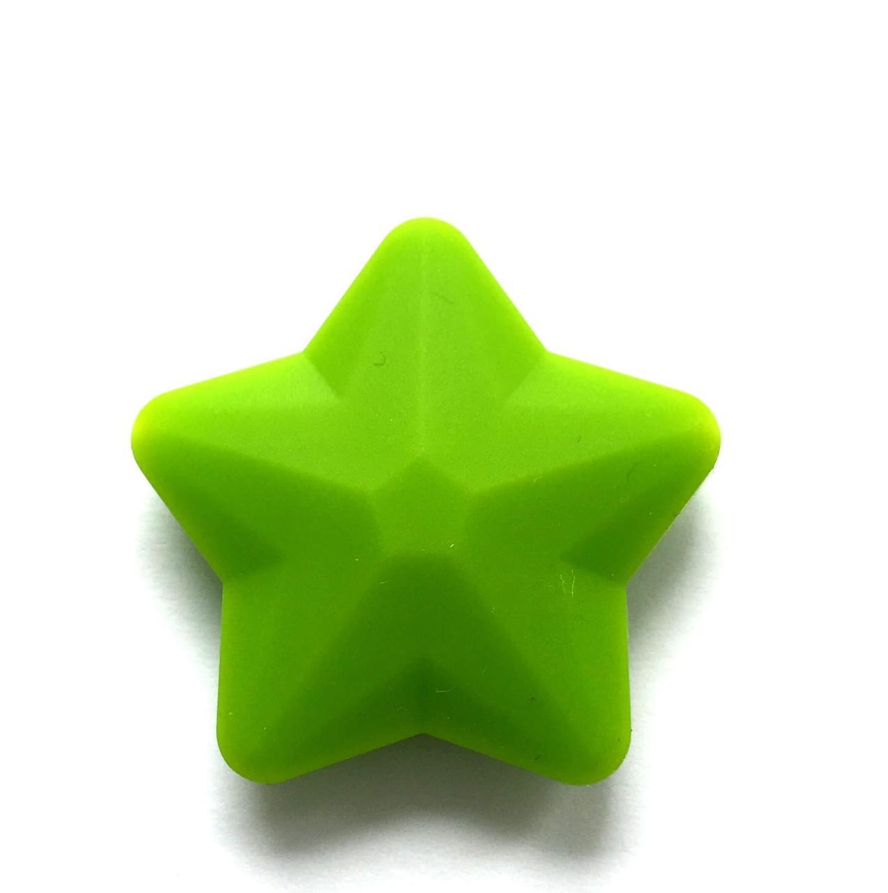 Звезда большая (зеленая) 45мм, силиконовые бусины