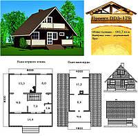 Проект деревянного дома из профилированного бруса 83,7 м2. Проект дома бесплатно при заказе строительства