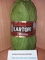 Акриловая пряжа (100%- акрил, 100 г/133 м) Kartopu Zambak K442 (фисташка)