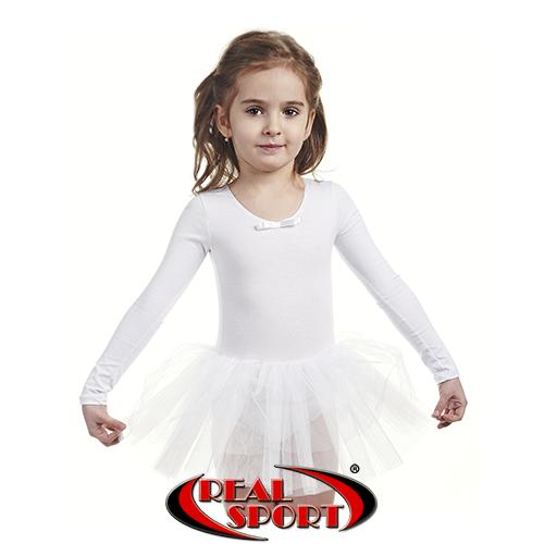 Детский купальник для танцев с пышной юбочкой
