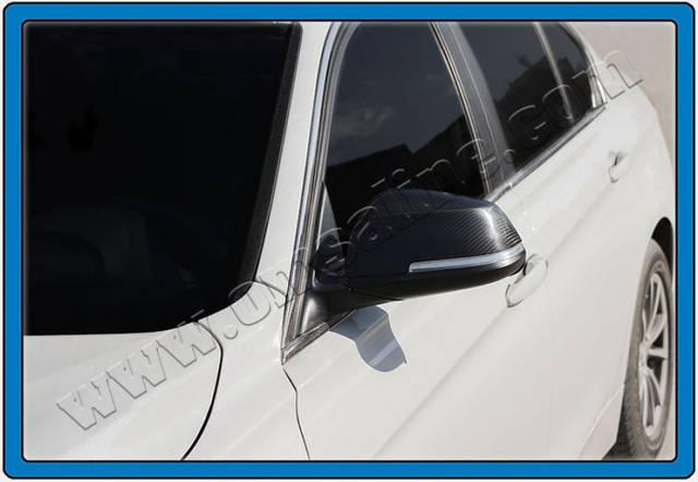 Накладки на зеркала BMW 3 SERIES SD F30 (2012-) 2 шт, натуральный карбон Omsa