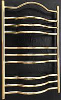 Золотой полотенцесушитель 500*800 Венеция 10 АЗОЦМ