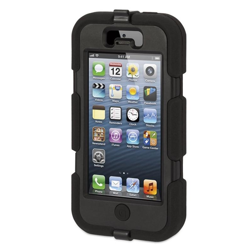 Чохол-360° Griffin для iPhone 5/5S/SE Survivor ser. Стійкий до ударів Чорний