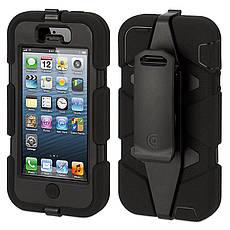 Чохол-360° Griffin для iPhone 5/5S/SE Survivor ser. Стійкий до ударів Чорний, фото 3