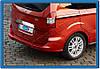 Накладка над номером Ford Courier 2014- (нерж.) Omsa