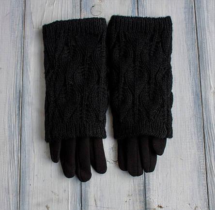 Стрейч+ вязка Большие черные, фото 2