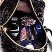 Рюкзак детский с пайетками и бантом Giaopixiong Синий, фото 7