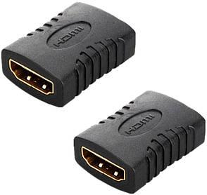 Адаптер HDMI M - M Чорний, фото 2