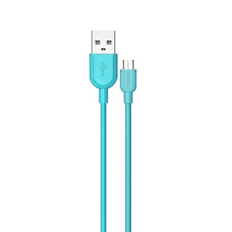 Кабель Remax RC-031m micro USB Souffle Blue, фото 2