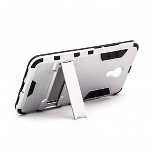 Чохол-накладка Transformer для Meizu M3 Note Ударостійкий підставка Сріблястий(303032), фото 2
