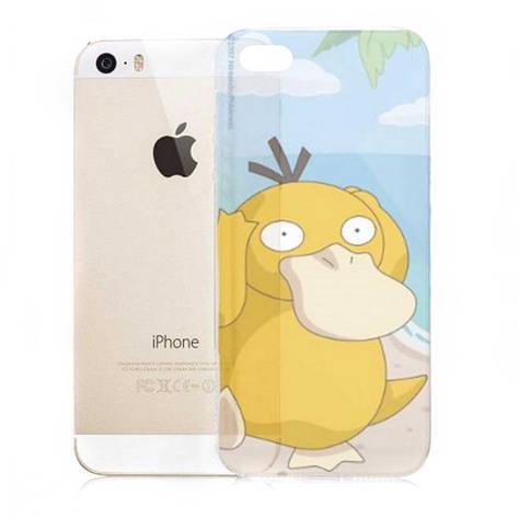 Чохол-накладка для iPhone 5/5S/SE Fanny Pokemons ser. Psyduck-прозорий, фото 2