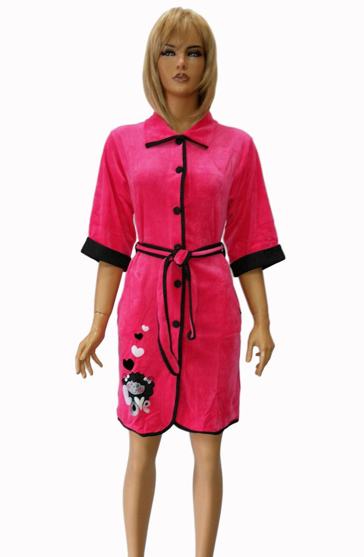 Халат женский велюровый  Jackies Fashion .