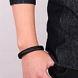 Мужской кожаный браслет Primo Rock Lux 20.5 - Black, фото 3