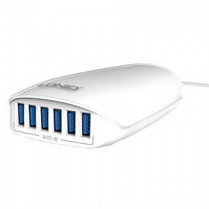 Зарядний пристрій LDNIO A6573 6 Port USB New powerful charging ser. White, фото 2