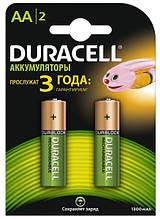 Аккумуляторы duracell hr6 aa 1300 mah 2 штуки на блистере (5000177)