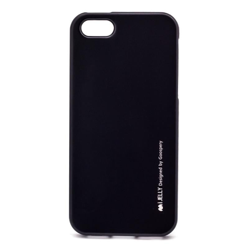 Чохол-накладка Mercury для iPhone 5/5S/SE iJelly Metal ser. TPU Чорний