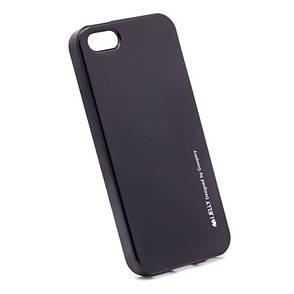 Чохол-накладка Mercury для iPhone 5/5S/SE iJelly Metal ser. TPU Чорний, фото 2