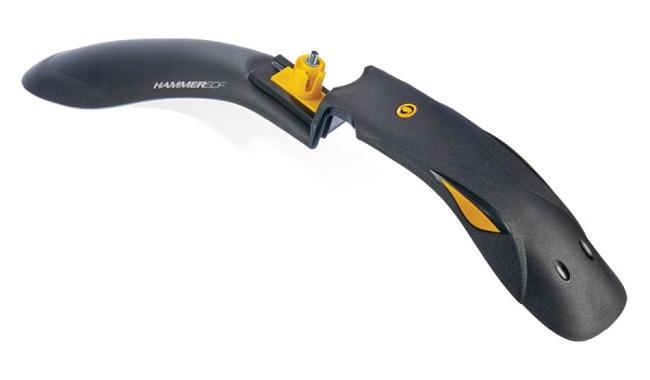 """Крыло переднее 24-29"""" Pl SIMPLA HAMMER SDF черный с желтыми вставками"""