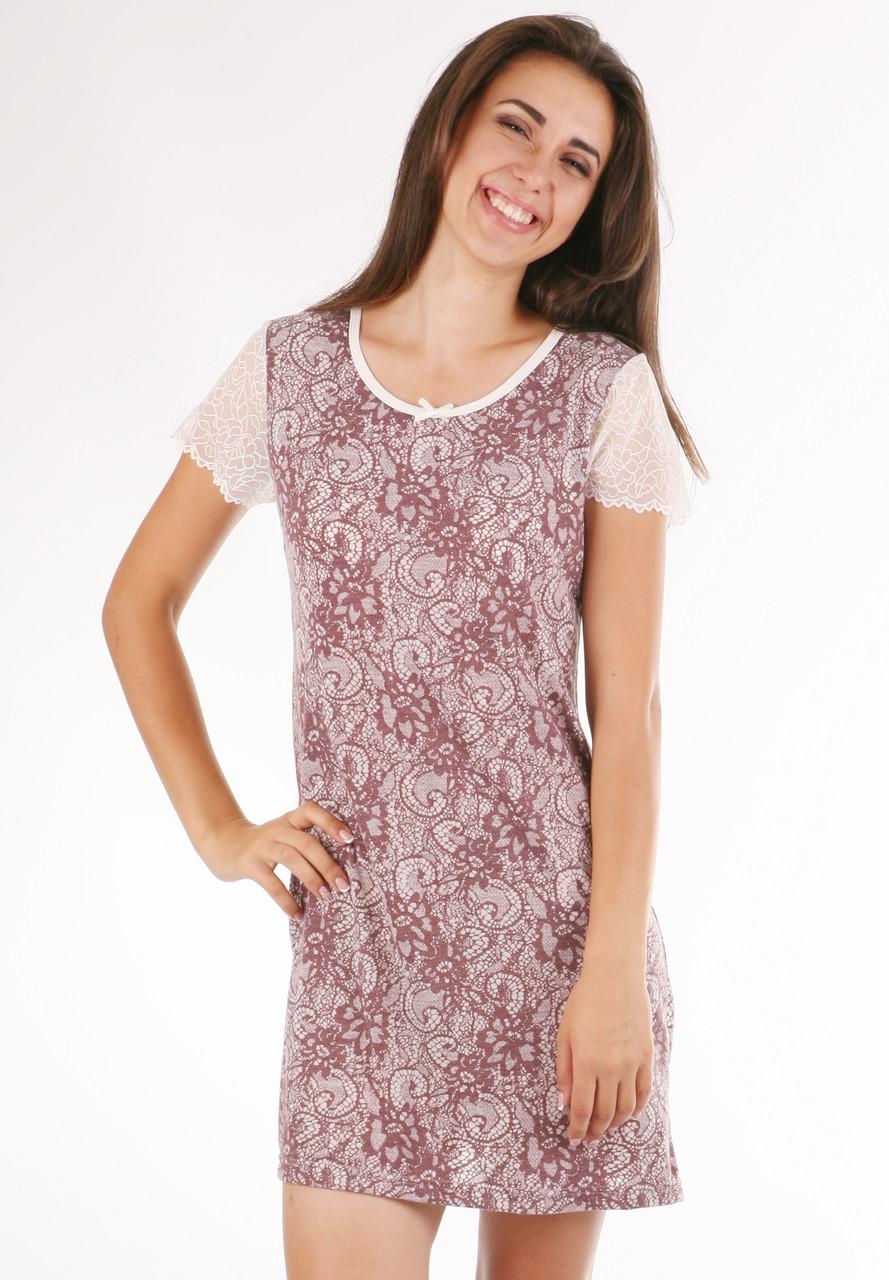 d92421a18f18c4c Ночная сорочка из вискозы женская вискозная ночнушка красивая с кружевом - Интернет  магазин Sport-sila