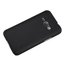 Чохол-накладка Nillkin для Samsung J120H J1(2016) Matte ser. +плівка Чорний, фото 2