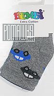 Детские махровые носки р. 56-62 для новорожденного 95% хлопок 5% эластен ТМ Ромашка 4503 Серый