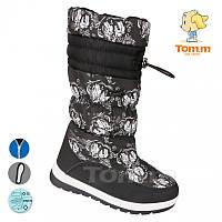 Сапоги зимние на девочку, детская подростковая зимняя обувь ТомМ Размеры 34-35