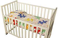 Детское покрывало 75х130 в кроватку стеганое Пазлы