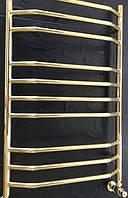 Золотой полотенцесушитель 500*800 Трапеция 10 АЗОЦМ