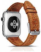 Ремешок Icarer для Apple iWatch 42mm Classic Genuine Leather ser. Светло-коричневый (992995)