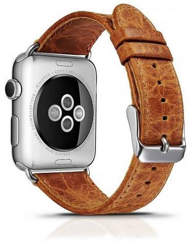 Ремінець Icarer для Apple iWatch 42mm Classic Genuine Leather ser. Світло-коричневий(992995), фото 2