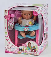 Пупс зі стульчиком для годування для дівчинки Дитячий пупсик, лялька, лялечка, іграшка для дівчаток