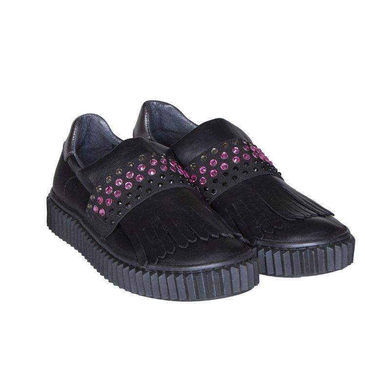 e034cb013 Кожаные слипоны для девочки Naturino - Интернет-магазин